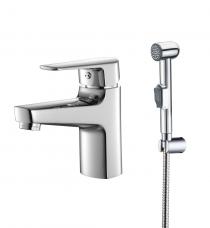 Смарт-Инлайн смеситель для умывальника с гигиеническим душем, хром