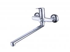 Смарт-Лайф смеситель для ванны/душа, излив 350 мм, керамический переключатель, с аксессуарами, хром