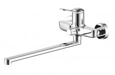 Смарт-Сфера смеситель для ванны/душа, излив 350мм, керам.переключатель, с аксессуарами, хром
