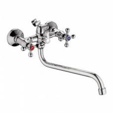 Смеситель для ванны с длинным изливом 300мм и картриджным переключателем L2308