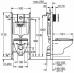 Набор Grohe Bau Ceramic система инсталляции Solido 5 в 1: подвесной унитаз, сиденье с микролифтом, панель смыва Sail, шумоизоляция 39415000